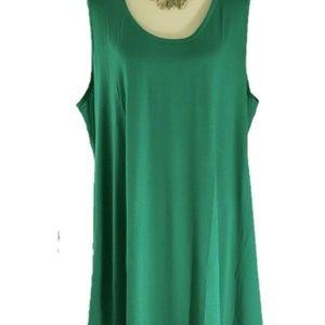 LOFT  Plus Green Sleeveless Swing Dress 24/26 New